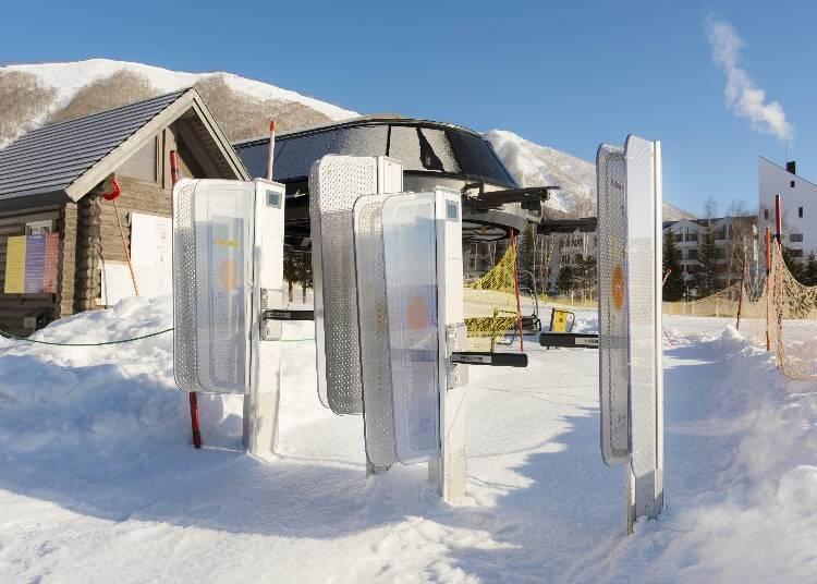 留寿都滑雪吊椅券:使用IC吊椅券的非接触型入口系统