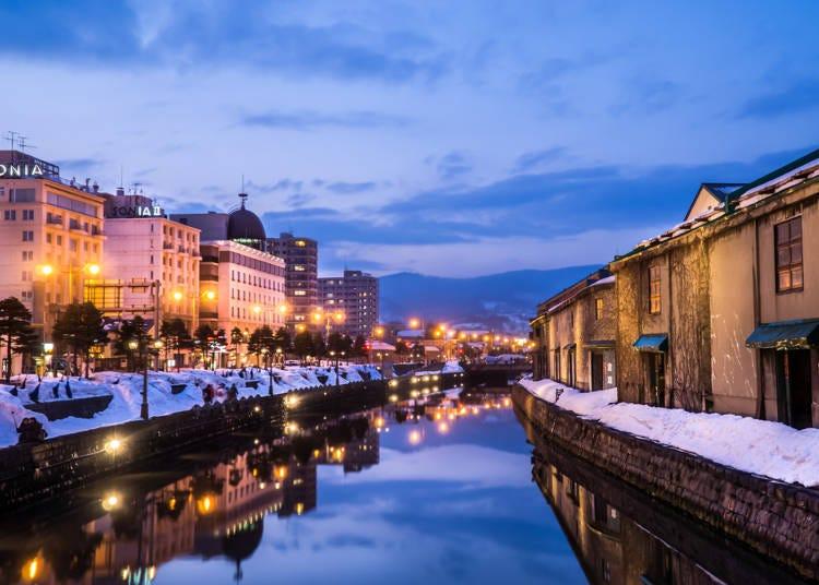 6.ガス灯がともる「小樽運河」
