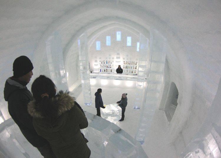 5. 시카리베츠코에 겨울에만 나타나는 마을 '시카리베츠 호수 코탄'