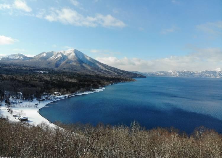 1. 호수와 이끼의 회랑을 둘러싼 시코츠코(호수) 겨울 트레킹 투어