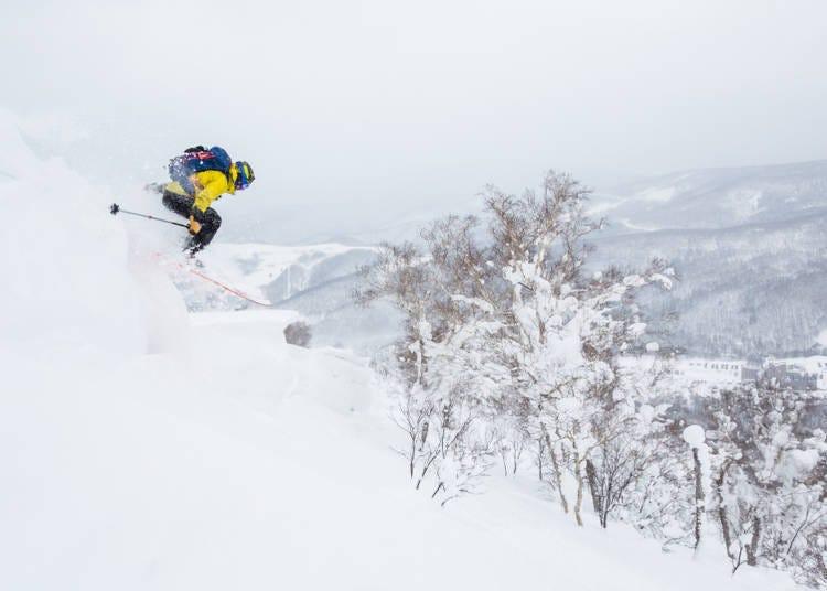 2. 在二世古的邊緣地帶享受雙板&單板滑雪導覽