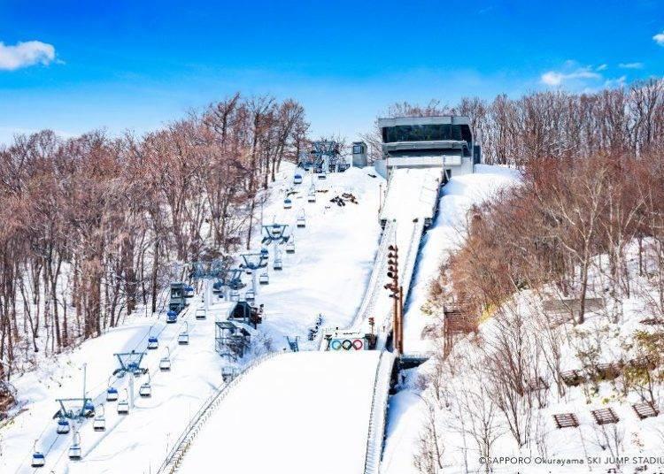 5. 오쿠라야마(산)에 가서 스키 점프의 기분을 맛본다