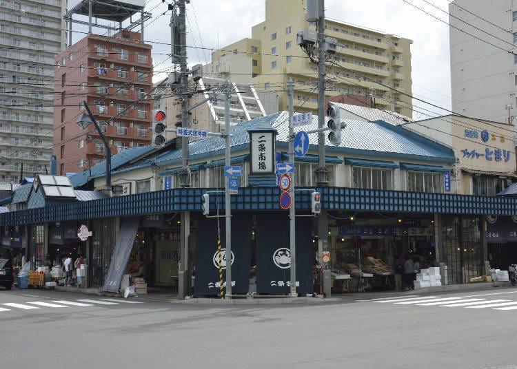 5. 12월31과 1월 3일까지는 '삿포로 니조 시장'에서 해산물을 즐기자