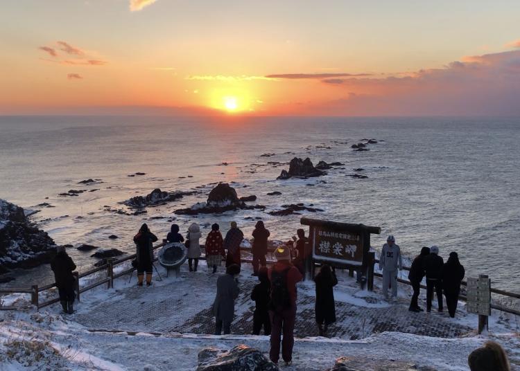 6.절경명소 에리모미사키(襟裳岬)에서 일출구경