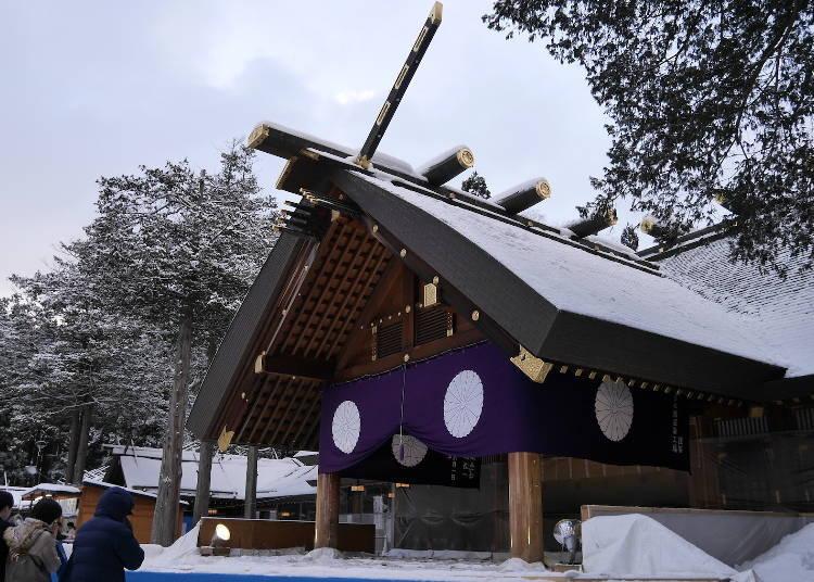 7. 새해 첫날과 산가니치 기간에는 '홋카이도 신궁'에서 소원빌기