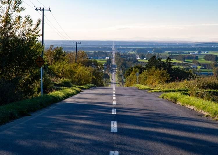 19.長い直線道路をドライブする