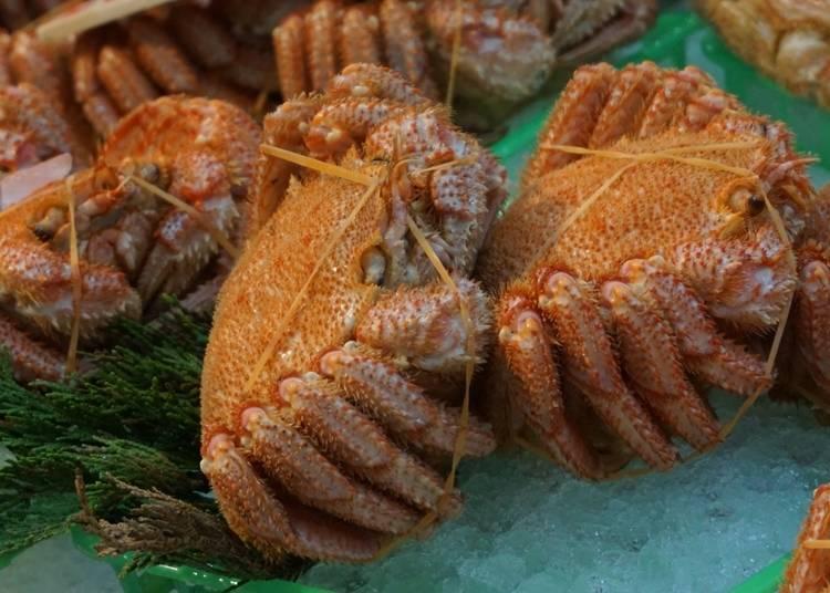 7. 品嘗春天流冰離岸後所捕獲的「毛蟹」