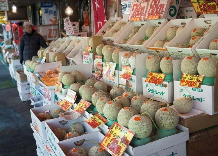北海道哈密瓜的平均價格是多少?