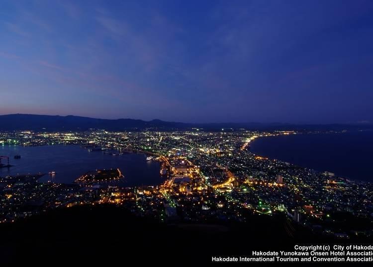 5 . 석양이 질 때부터 밤에 걸쳐 아름다운 '하코다테산'에서의 전망