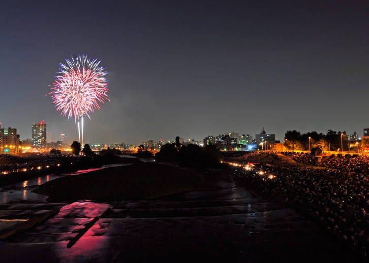 July: Toyohira River Fireworks Show (Sapporo City)