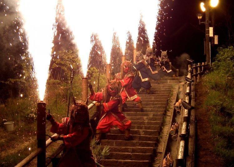 8월 노보리베츠 지옥 축제(노보리베츠시)