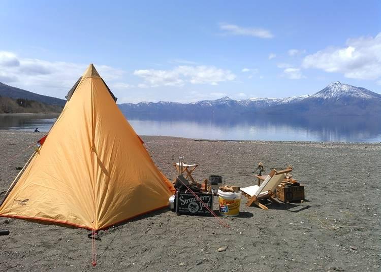 5) 빈손으로도 캠프가 가능한 '규카무라 시코츠코 모랩 캠프장'(치토세시)