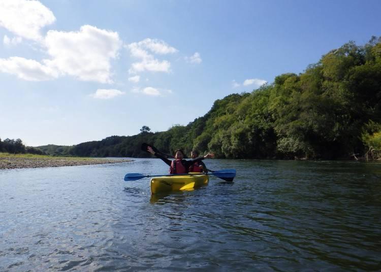 13:30 느긋하게 자연을 느낀다 '도카치가와 카누 투어'
