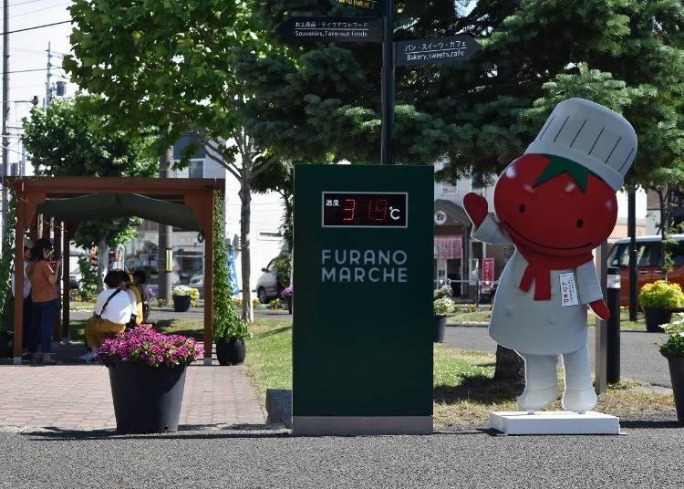 9:20 在這裡可以買到整個富良野的名產「FURANO MARCHE」