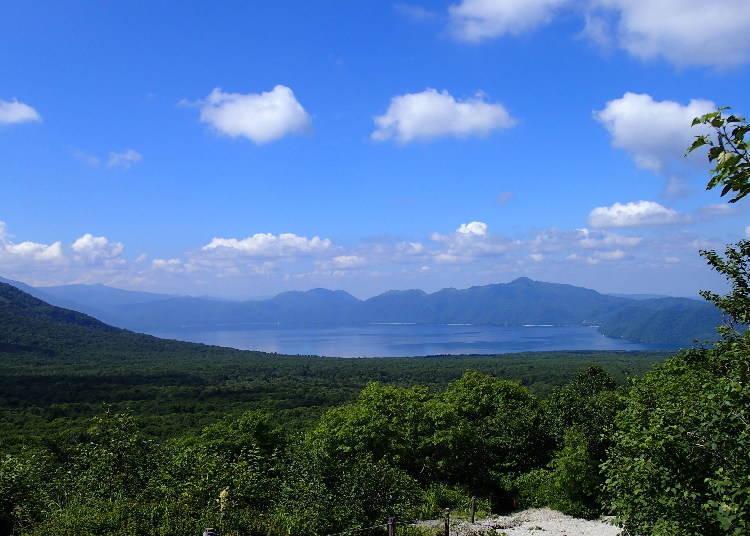 4. Lake Shikotsu: A fantasy-like lake of vibrant hues