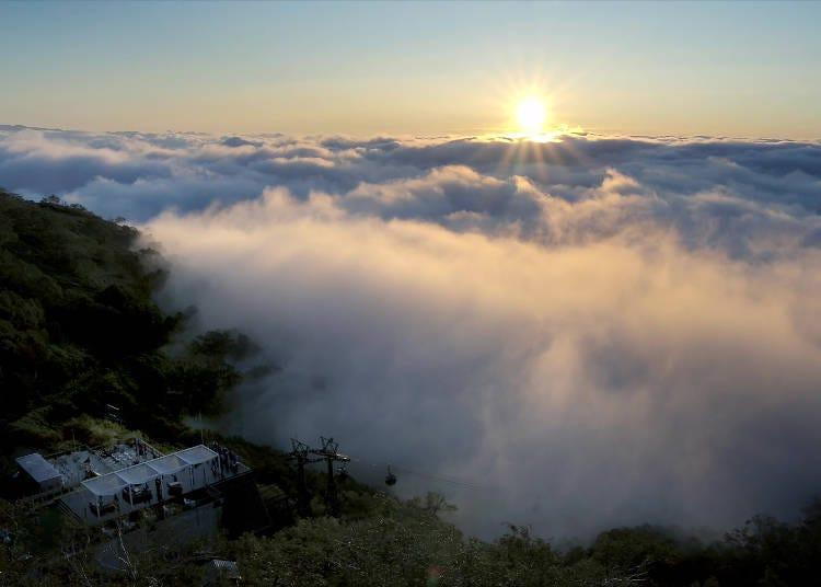 바다처럼 구름이 펼쳐지는 하늘의 세계 '운해'