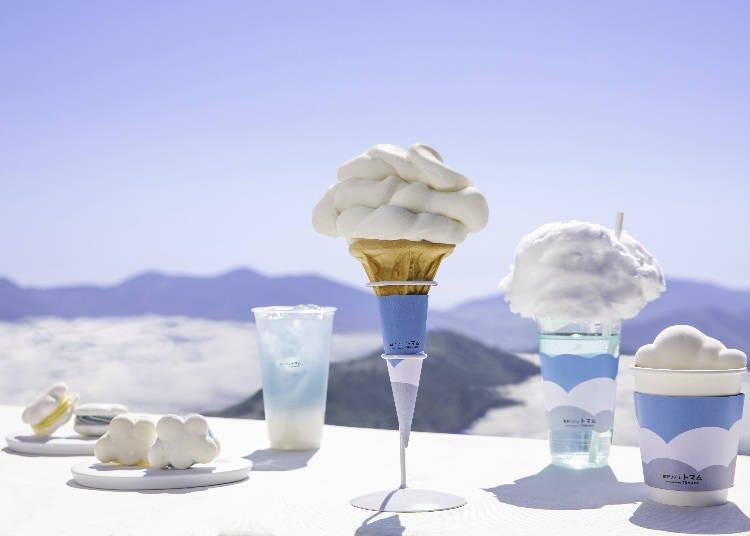 3)在「Tenbou Cafe」品嚐像雲朵造型甜點