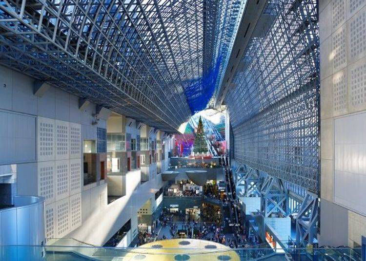 Inside the Kyoto Station Building
