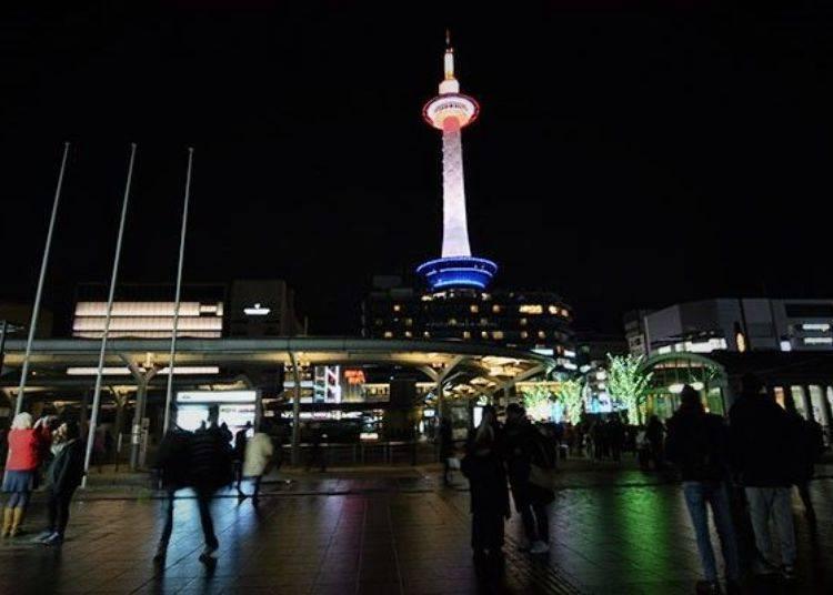 8. 眺望京都塔的美麗姿態