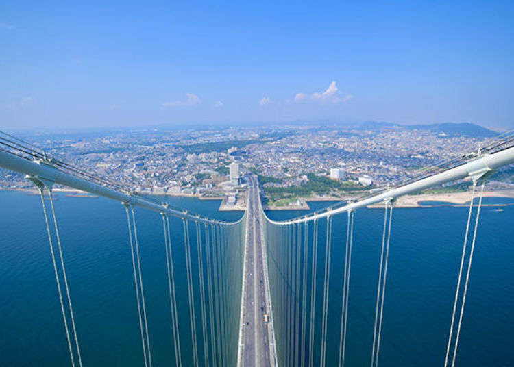 "World's Longest Suspension Bridge! Vibrant views from the Akashi Kaikyo ""Bridge World"" tour"