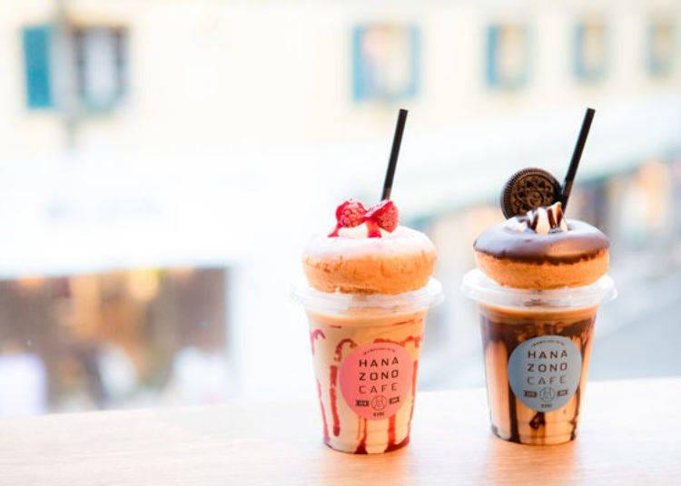 미미라떼 도넛이 매우 귀엽다 ♡ `하나조노 카페`