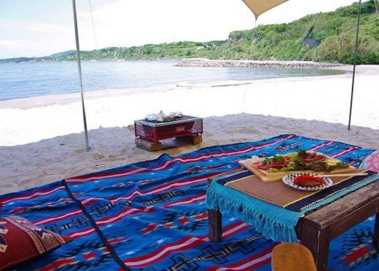 Things to do on Awaji Island: Enjoy a beach BBQ at Awaji Island's stylish campsite!
