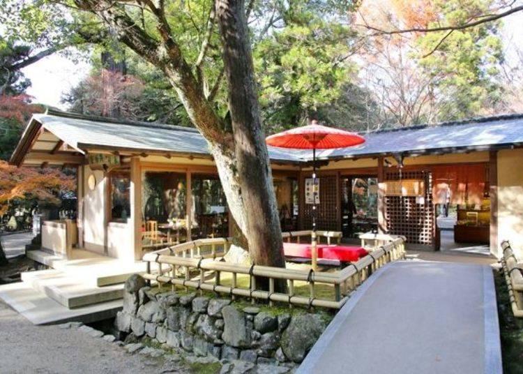 在江戸時代文獻上也有記載的脫俗茶屋裡品嚐有名的粥