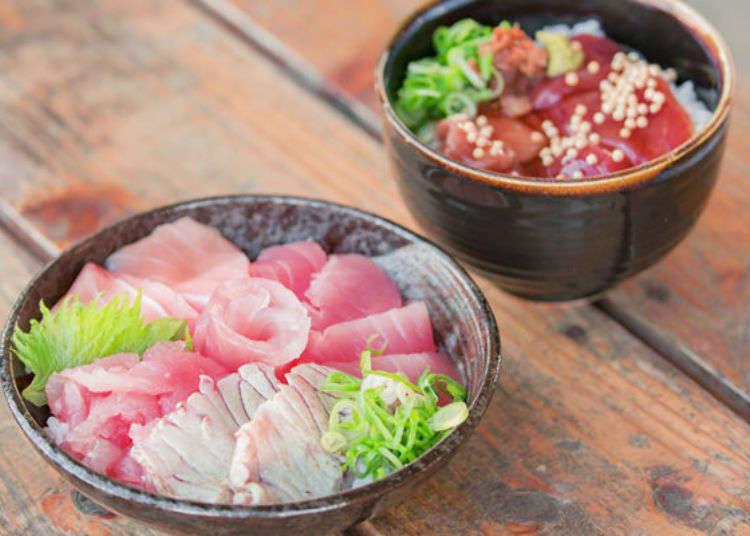 在勝浦漁港市場開始美好的一天!新鮮美味的鮪魚早餐