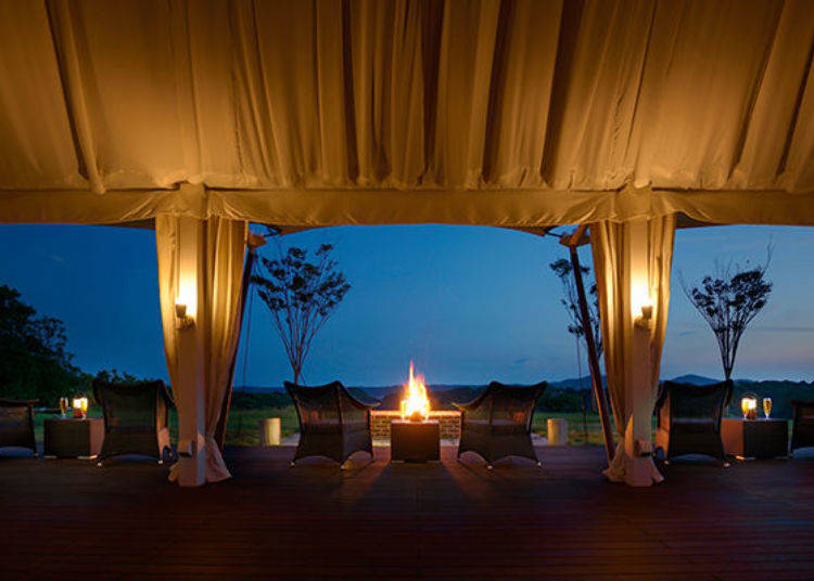 The truly luxurious glamping dinner