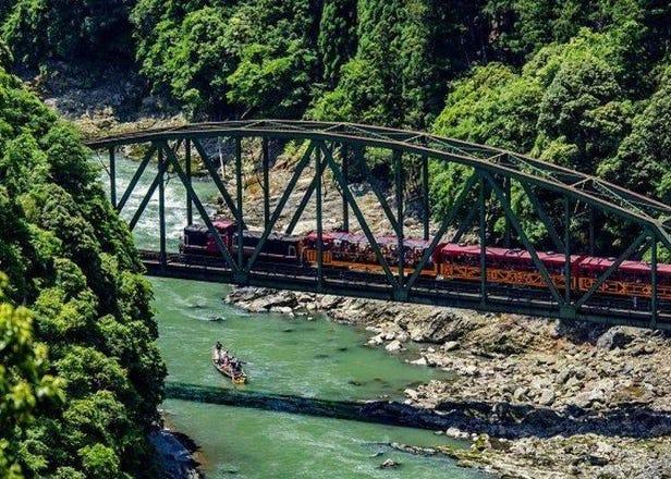 搭乘京都・嵯峨野Torokko觀光列車GO!穿駛新綠盎然的隧道絕佳景色trip