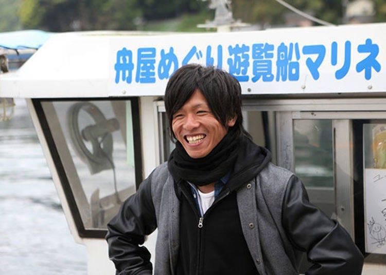 從海上漸漸靠近,欣賞船屋景色的「海上計程車」