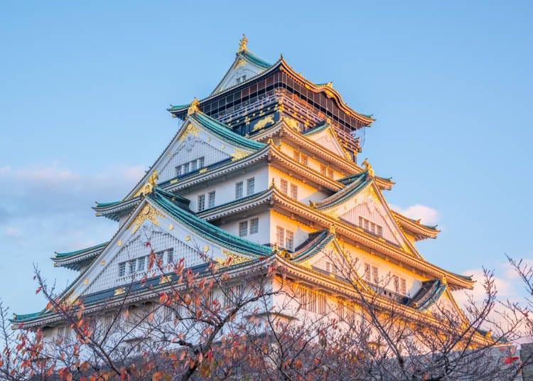 武将気分になれる大阪城の天守閣