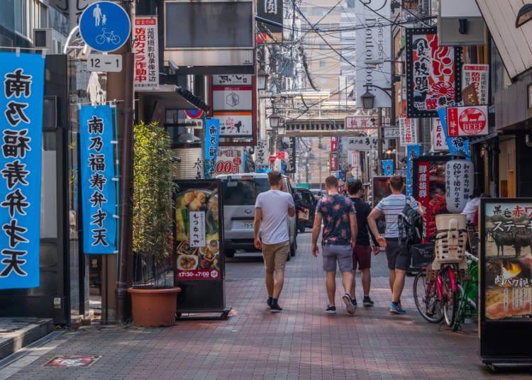大阪是个因地域不同而有不同气氛的城市