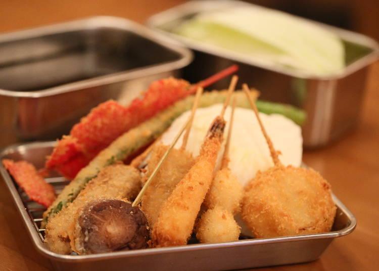 """Exquisite Freshly Fried """"Kushi-katsu""""!"""