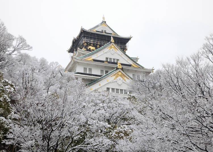 関西エリアの冬(12~2月)の気温・天気