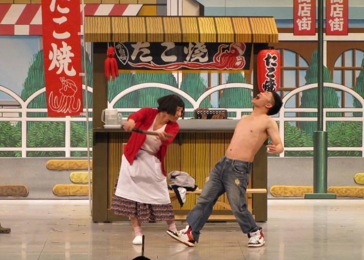 來去觀賞孕育出大阪搞笑文化的「難波豪華花月劇場」新喜劇吧!