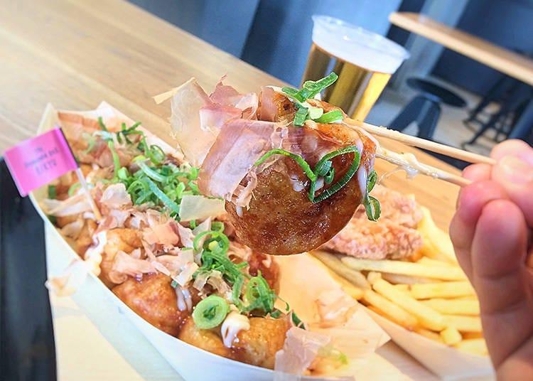 If you're after takoyaki: The Konamon Bar Rikyu