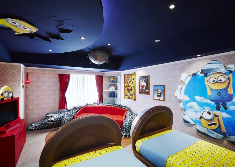 日本第一間和影城合作的「小小兵概念客房」