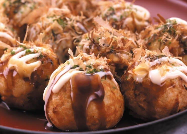 想吃大阪的代表性美食章魚燒,就到「Kukuru hanatako」
