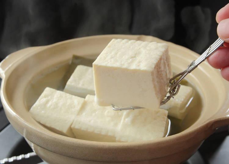 2温かくて滋味深い「湯豆腐」