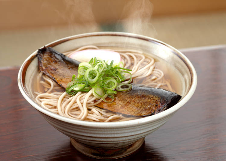 3. Noodles with a big, sweet herring: Nishin Soba