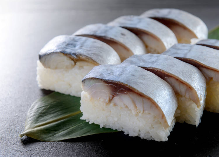4. Thick mackerel and vinegar-seasoned rice: Mackerel sushi