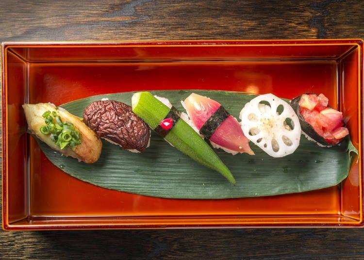 5.伝統の漬物が手軽に味わえる、漬物寿司