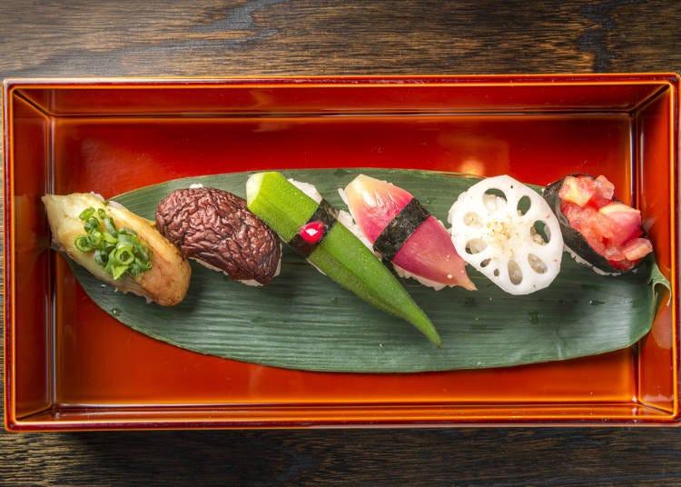 5. 可以轻松享用到传统腌渍物的渍物寿司