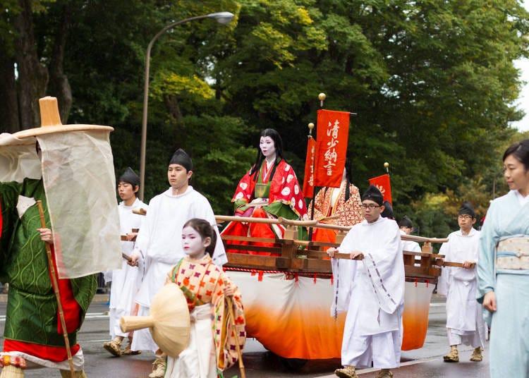 Like a glamorous art scroll in motion: Jidai Matsuri