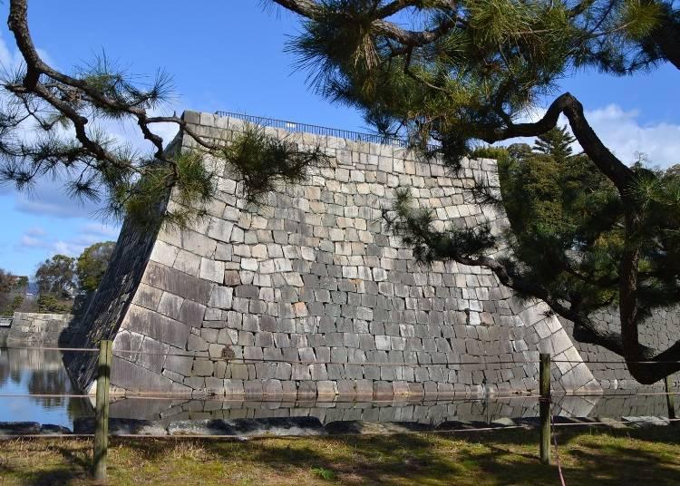 天守閣跡から城内と京都の町並みを一望
