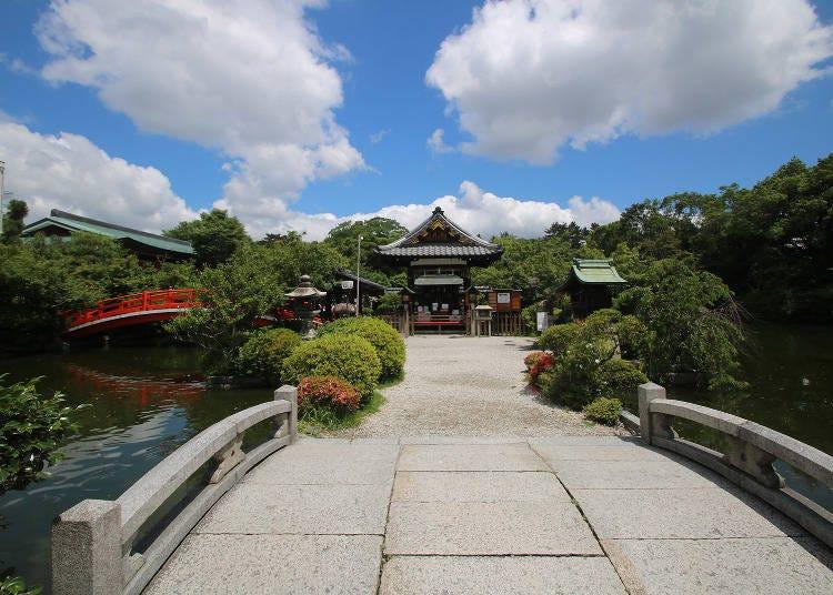 1,池の中に建つ社が幻想的な「神泉苑」