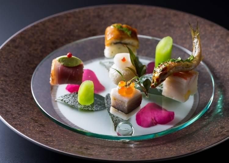 在「Umu」享受獲得米其林星級評鑑的會席料理