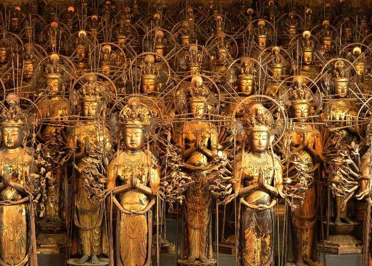 1000体の観音像がお出迎え。京都駅から徒歩でもいける三十三間堂の魅力ガイド