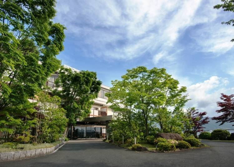 Enjoy a Garden Bath and Guest Room Outdoor Baths! Hotel Kitanoya